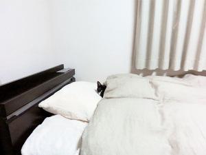 ちゃんと枕のところで